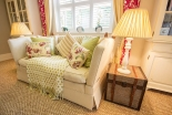 The Cottage Couch and Lamps